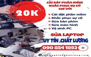 Sửa máy tính, laptop Nha Trang giá 20k